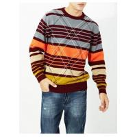 Best Men's Casual Round Neck Stripe Cotton Pullover Sweater wholesale