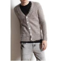 Best Men's Fashion V-neck Single Breasted Fluffy Cardigan wholesale