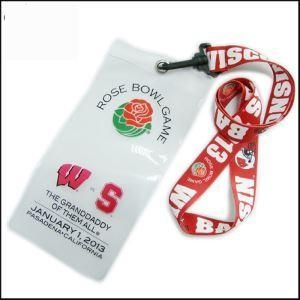 Cheap Transparent PVC Card Bag Printed Your Logo Subliamtion Lanyard for sale