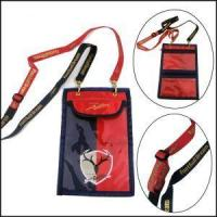 Best Double Ended Bulldog Clips Polyester Lanyards with Passport Pouch wholesale