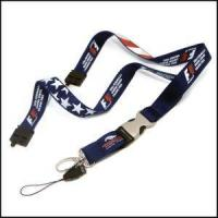 Best Half Metal Half Plastic Release Buckle Polyester Printed Logo Lanyards wholesale