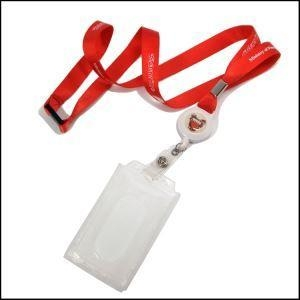 Cheap Newest Custom Neck Strap Lanyard with Hart PP Card Holder for sale