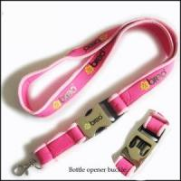 Best Comfortable Serging Stitch Neoprene Lanyards with Custom Quick Buckle wholesale