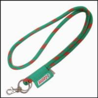 Best A Label Embroidered High Elastic Cord Woven Logo Round Lanyards wholesale