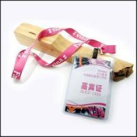 PP Hard Card Holder Lanyard for VIP Visitor