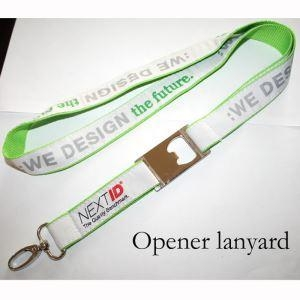 Cheap Beer Bottle Opener Lanyard for Publicity for sale