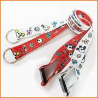 Buy cheap Sublimation Fashion Colorful Logo Polyester Neck Strap from wholesalers
