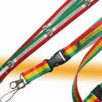 Buy cheap Printing Custom Logo Combined Colors Polyester Neck Straps Lanyards from wholesalers