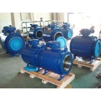 China API 3PC Flanged Trunnion Mounted Ball Valve on sale
