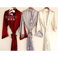 China Fancy Texture Wholesale Hotel Satin Silk Bathrobe on sale