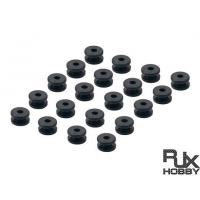 RJX 20pcs RC Anti Vibration Rubber Balls For RC F3 F4 F7 Flight Controller M3 Shock Absorption Balls
