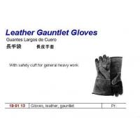 long leather working gloves
