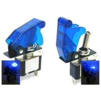TRANSPARENT BLUE MISSILE TOGGLE SWITCH