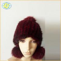 Best Fur Hat Factory price real mink fur knitted hat fashion winter hat for women wholesale