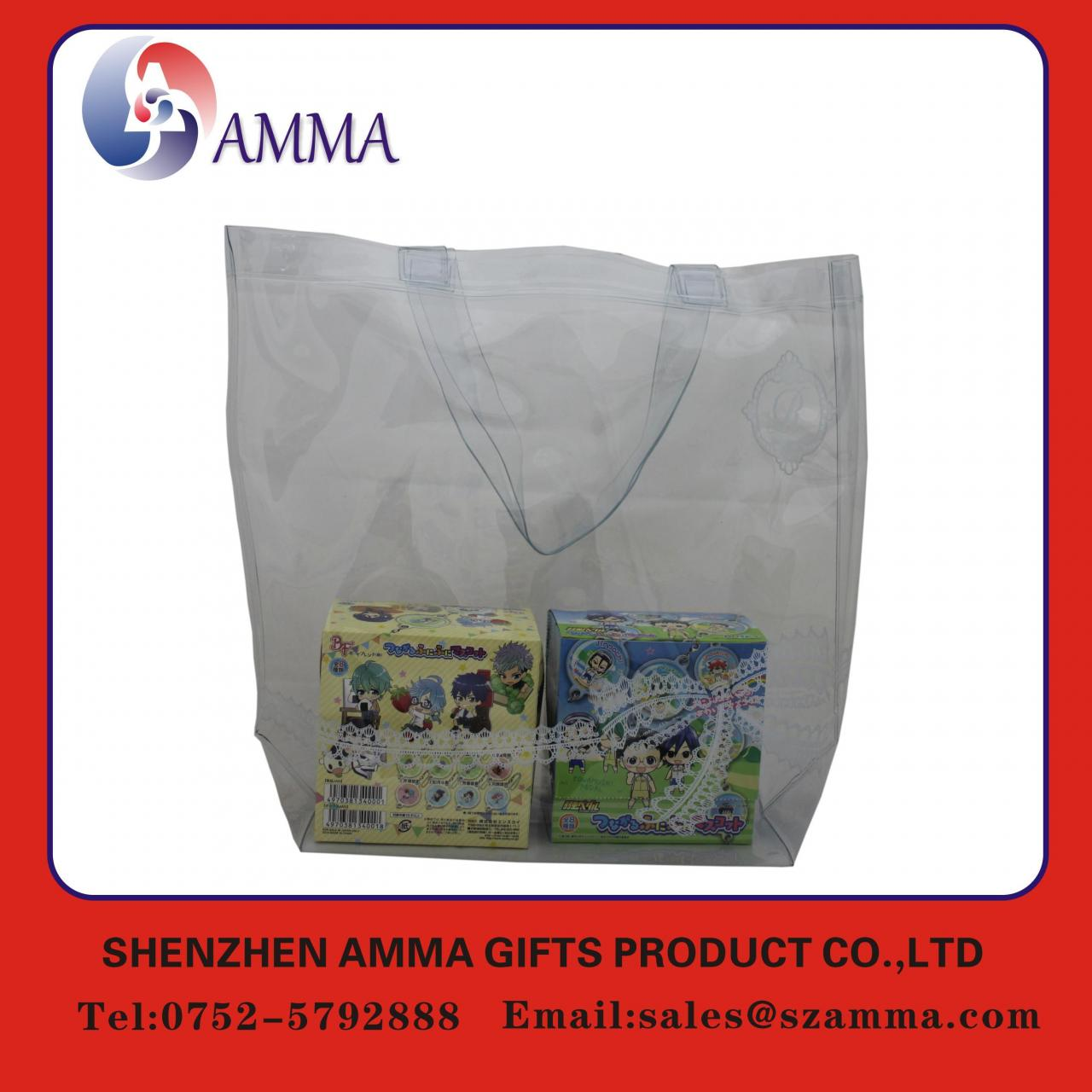 Buy cheap Clear transparent customized pvc shopping bag from wholesalers