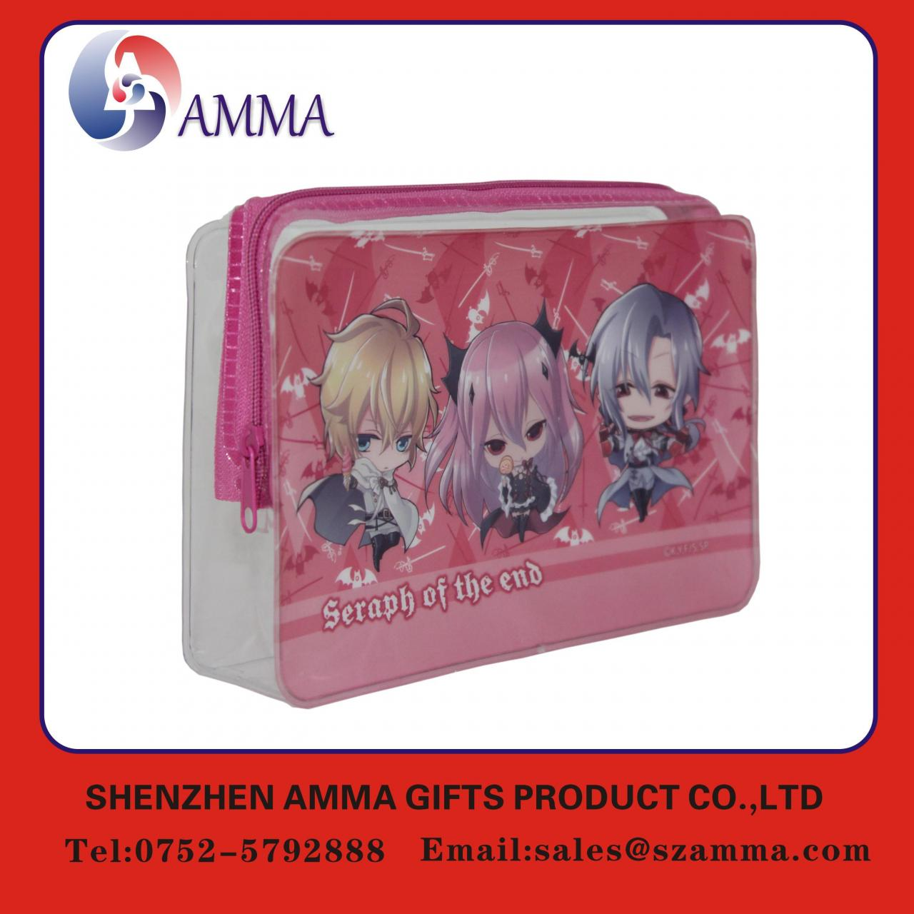 Buy cheap Printed colorful adorable PVC zipper bag from wholesalers