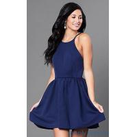 Buy cheap Open-Back Navy Blue Short Cocktail Party Dress CQ-3478DW from wholesalers