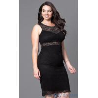 Buy cheap Fitted Short Lace Plus-Size Cocktail Party Dress MB-MX1349 from wholesalers