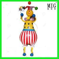 creative new style children playground decoration item clown theme statue by fiberglass