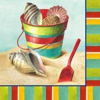 Decor - Tropical Beach Days Shell Paper Cocktail Napkins Pk of 20 Beverage - 4NC1978
