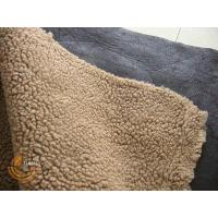China Garment fabric Suede bond with fake fur on sale
