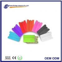 Best Adhesive Silicone Sticker Cell Phone Pouch And Back Cover Card Wallet With Stand Holder wholesale