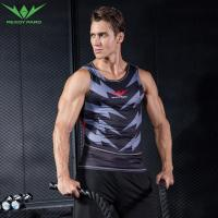 Best 2017 wholesale polyester spandex men sports vest gym black tank top wholesale