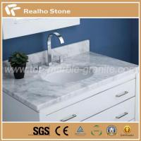 China Natural Carrara White Marble Bathroom Tops on sale
