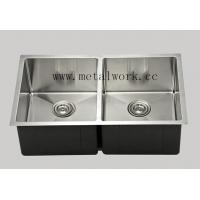 China Metal Frames stainless steel double bowl sink R321955 on sale