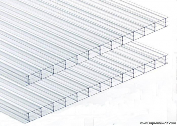 China Triple Wall Clear Polycarbonate Sheet for Greenhouse
