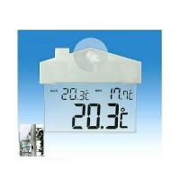 China JUMBO DISPLAY SEE-THROUGH THERMOMETER WITH MAX-MIN (-10 TO 50 )WITH SUCTION CUP on sale