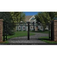 Buy cheap Decorative Black Metal Fence Automatic Driveway Gates from wholesalers
