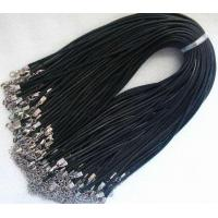 China 10pcs waxed robbin silk jewelry pendant 2mm black cords with clasp for necklace cord2 on sale