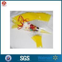 China Popular Polypropylene Cone Cellophane Favor Bags For Sweets on sale