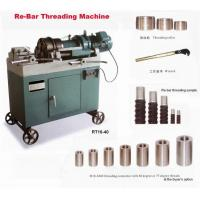 Re-bar threading machine