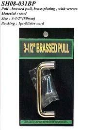 Cheap Pull - brassed pull, brass plating, with screws for sale