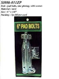 Cheap Bolt - pad bolts, zinc plating, with screws for sale