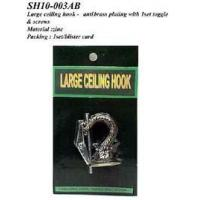 Best Large ceiling hook - anti-brass plating with 1 set toggle & screws wholesale