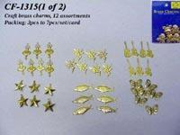 Buy cheap Craft brass charms, 12 assortments from wholesalers