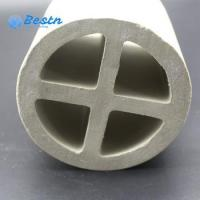 Buy cheap Ceramic Filter Media Cross Partition Ring Ceramic Tower Packing from wholesalers