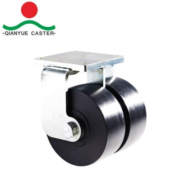 Cheap Twin Wheels Shock Absorbing Caster for sale