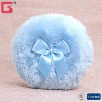 Best Amazon FBA long fluff makeup cosmetic plush feather baby powder puff with bowknot ribbon Makeup Spon wholesale