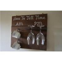 China Wall Mounted Wine Glass Rack and Coffee Cup Hook Rack-9 on sale