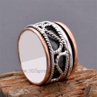 Best Fine silver and copper handmade Spinner Ring wholesale