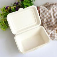 Best Sugar cane 2 compartments home pulp fast food paper pulp box wholesale