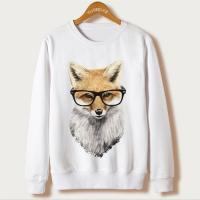 Best Knit 135 Crew neck sweatshirt with FOX printing wholesale