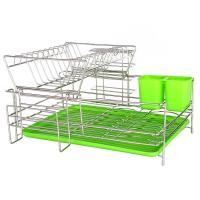 China Dailyart 2 Tier Draining Dish Drying Rack Stainless Steel DDR0024 on sale