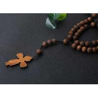 Best Religious 10mm Wooden Beads Cord Rosary wholesale