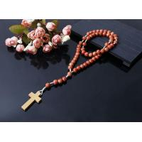 China new style wood beads cord rosary on sale