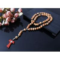 China new design wood beads cord rosary on sale